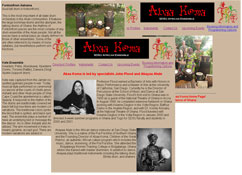 picture representation of some of the pages of the abaa koma website